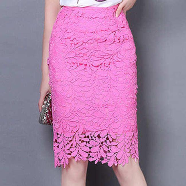 Elegantní sukně s vysokým pasem - 4 barvy 1