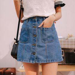 Džínová sukně s kapsami