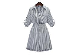 Košilové šaty s pruhy - 7 velikostí