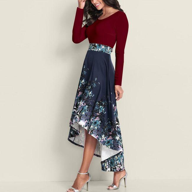 Damska sukienka z długimi rękawami Evelien 1