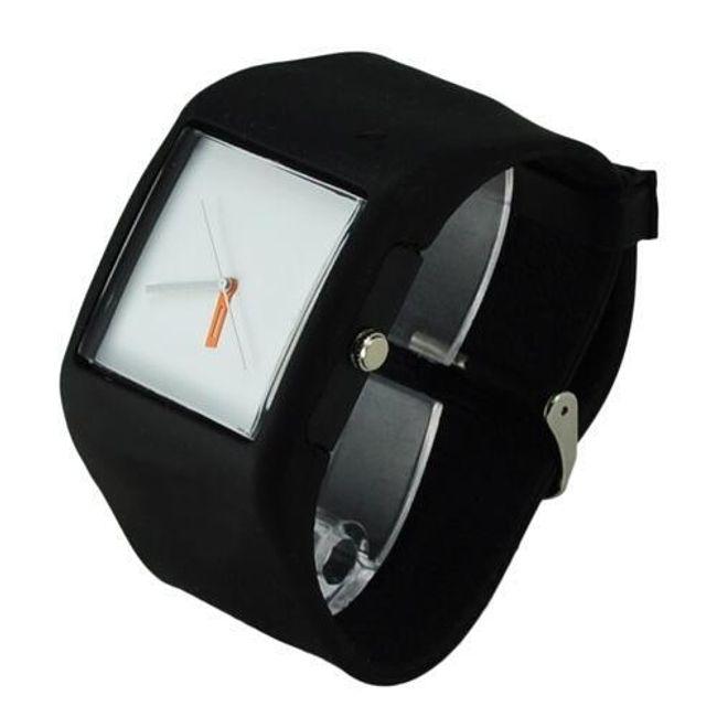 Silikonové hodinky RECTANGLE - analogové , 3 barvy 1