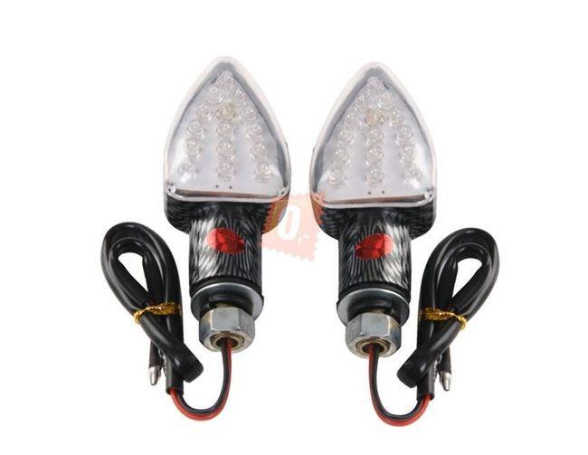LED blinkry na motocykl 2ks - 15 LED diod, imitace karbon 1