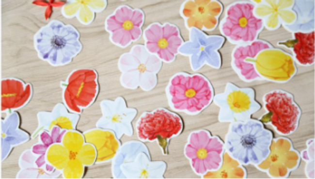 Nálepky - květiny 1