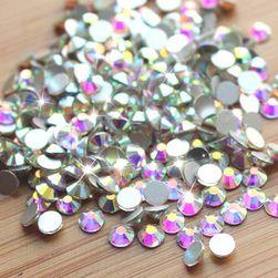 Kamínky na zdobení nehtů v podobě diamantů - 1440 ks