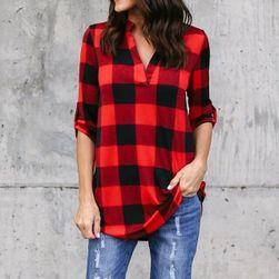 Koszula damska w kratkę - 3 kolory, 8 rozmiarów