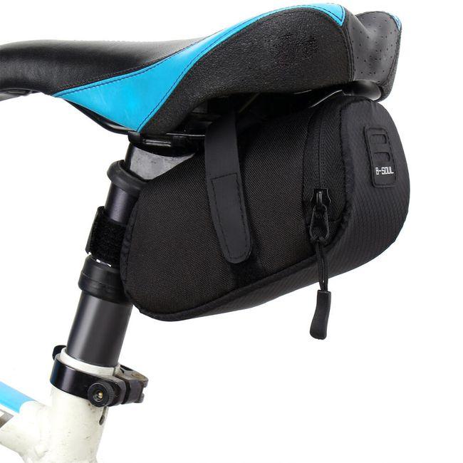 Prostokątna torebka pod siodełko rowerowe - 3 kolory 1