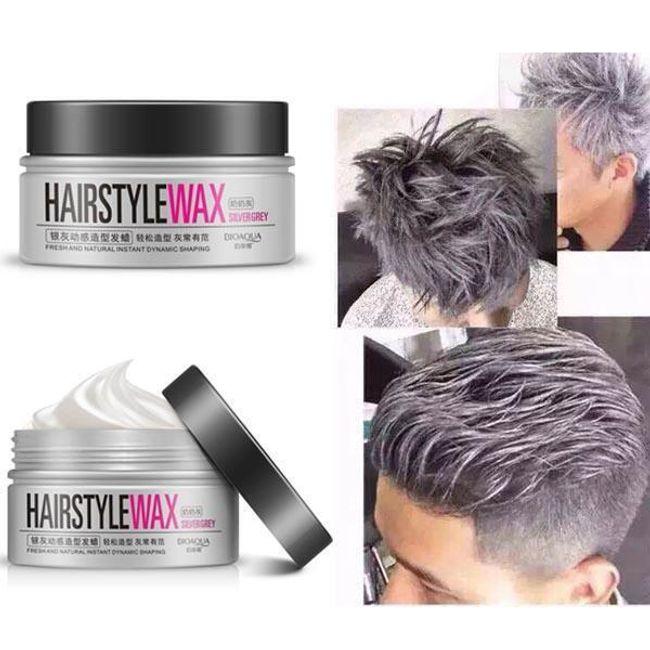 Ceară de păr pentru bărbați - argintiu 1