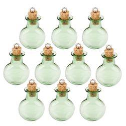 Zestaw okrągłych butelek do wyrobu biżuterii