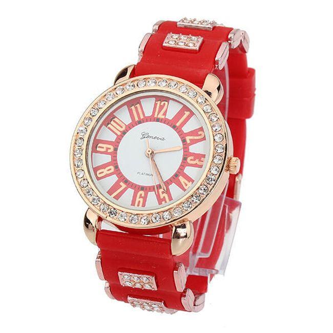 Dámské hodinky s třpytivými kamínky v 5 barvách 1