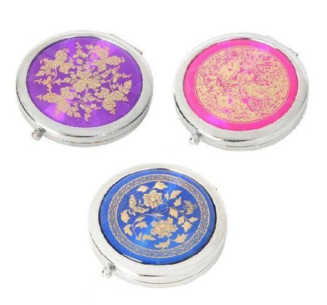 Kosmetické zrcátko do kabelky s květinovým motivem v 5 barvách 1
