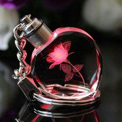 LED kulcstartó rózsával