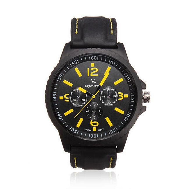 Męski sportowy zegarek z silikonowym paskiem  1