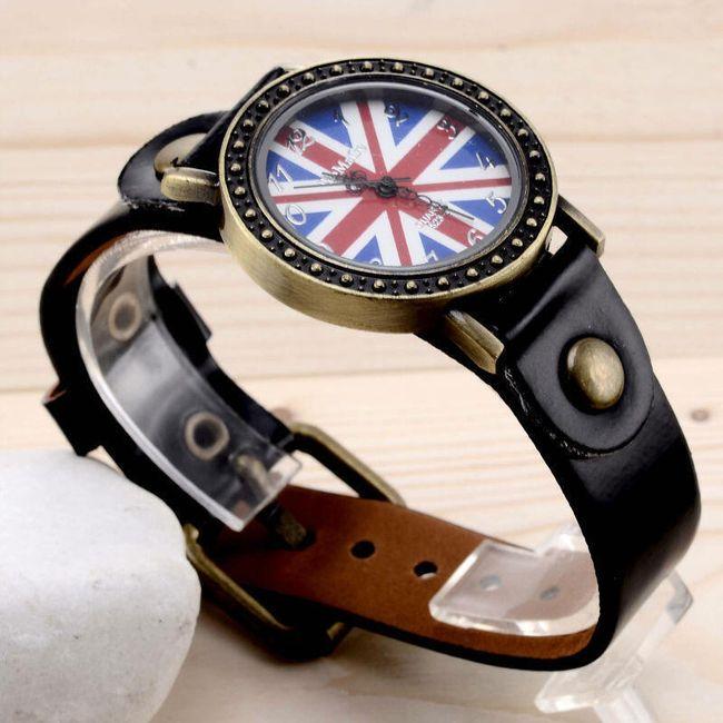 Náramkové hodinky s britskou vlajkou 1