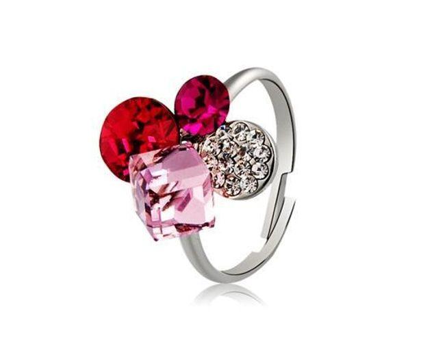 Prstýnek s malinovými kamínky 1