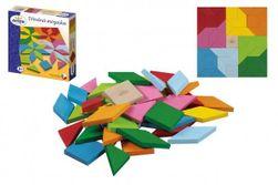 Mozaika farebná drevená 49 ks v krabici 20x20x4cm RM_33014594