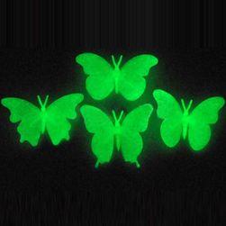 Fluorescentní motýlci na zeď