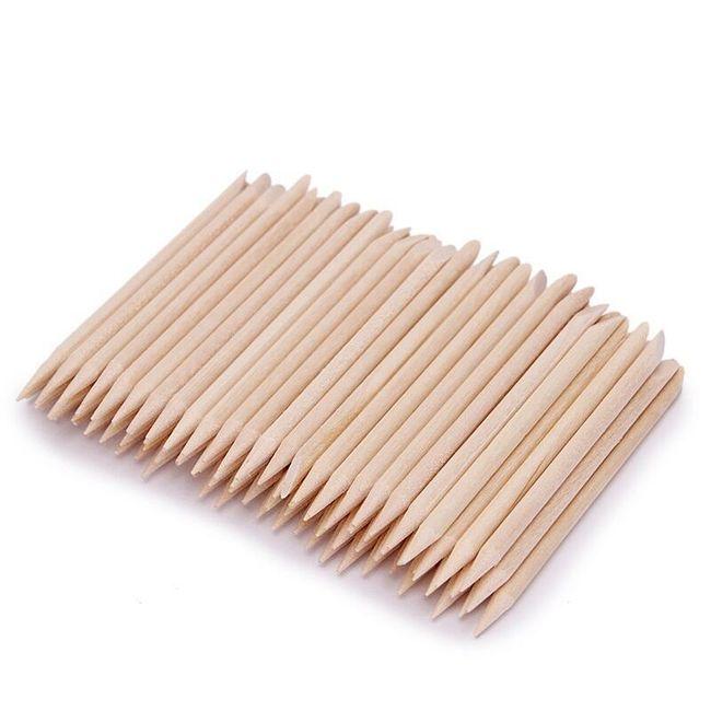 100 kusů dřevěných tyčinek na nehtovou kůžičku 1