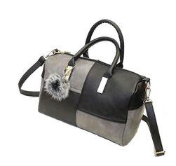 Dámská kabelka v zajímavé dvojkombinaci barev - šedočerná barva