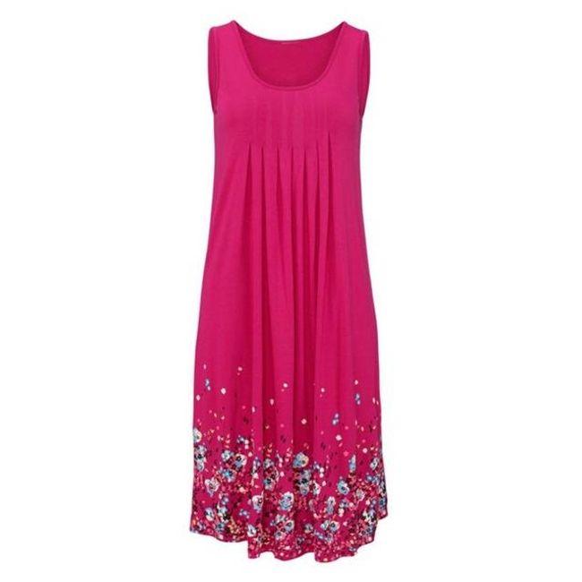 Легкое длинное цветочное платье для девушек - 3 цвета 1