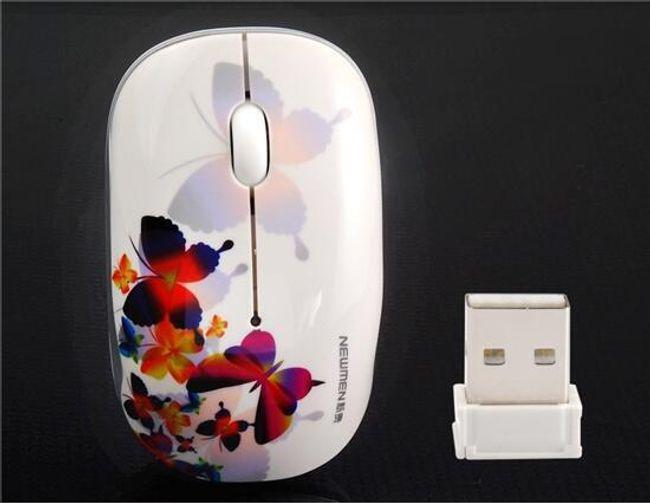 Ozdobná myš s motýlky 1