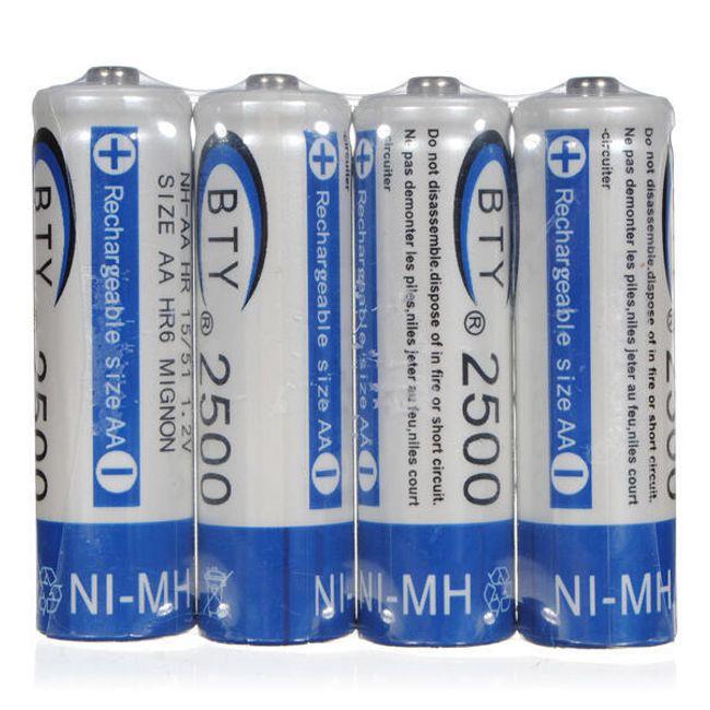 Baterie BTY AA 2500 mAh do łatowania - 4 sztuki 1