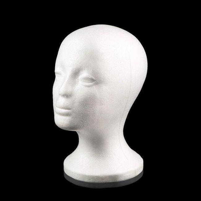 Pěnová hlava na klobouk, brýle nebo paruku 1
