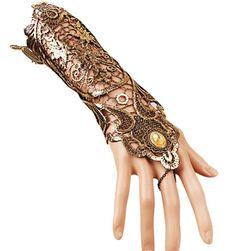 Krajkovaná dámská rukavička v retro stylu