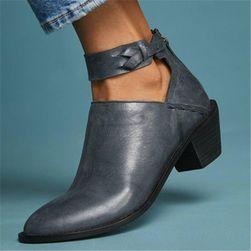 Dámské boty na podpatku Magdalena Modrá - 39