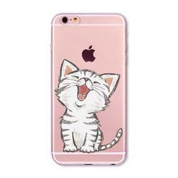 Carcasă transparentă cu motive amuzante cu pisici