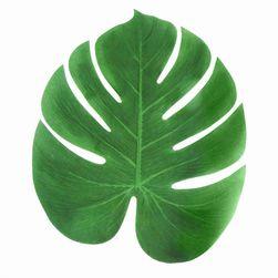 Zestaw sztucznych liści tropikalnej palmy - 12 sztuk