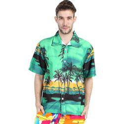 Cămașă colorată pentru bărbați în stil hawaian