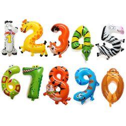 Dmuchane baloniki - zwierzęta w kształcie cyfr - 1 sztuka