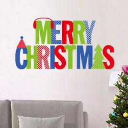 Samolepka s barevným nápisem MERRY CHRISTMAS