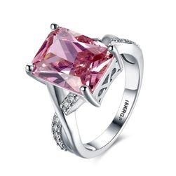 Ženski prsten sa ružičastim kamenom - različite veličine