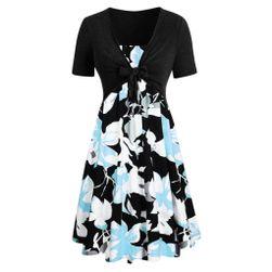 Платье с короткими рукавами CIndy