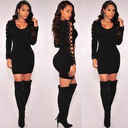Ženska mini haljina - crna