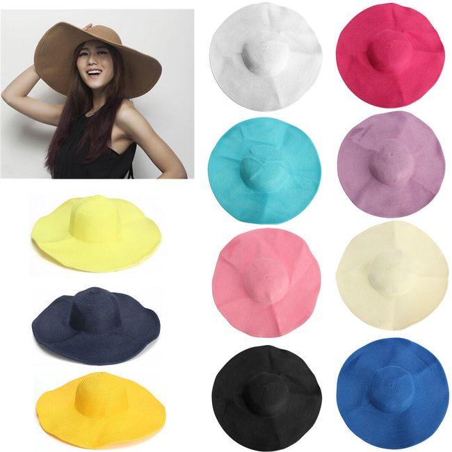Широкополая шляпа разных расцветок  1