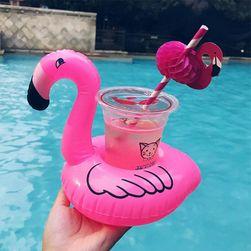 Držák na pití ve tvaru plameňáka - růžová barva