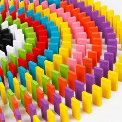 Drewniane klocki do gry - domino - 120 sztuk