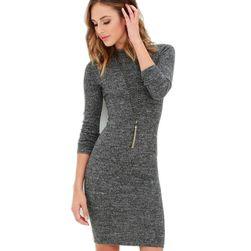 Jednoduché ležérní šaty - šedé
