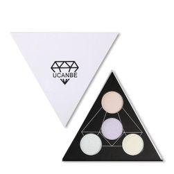 Paletka rozjasňovačů ve tvaru trojúhelníku