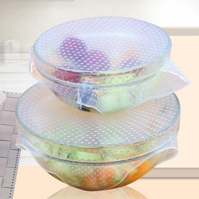 Folie din silicon pentru depozitarea alimentelor - 4 bucăți 1