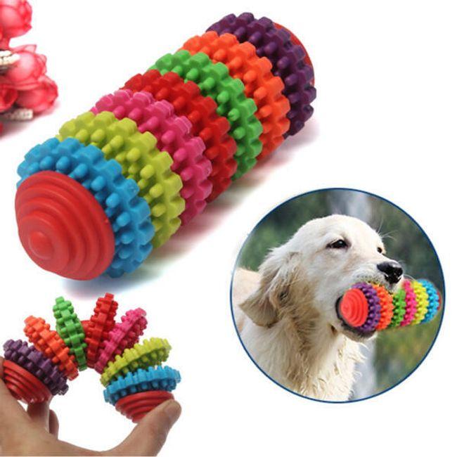 Резиновая игрушка для чистки зубов собаки 1