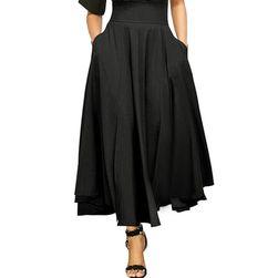 Lehká áčková sukně ke kotníkům