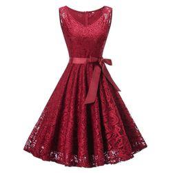 Кружевное ретро-платье