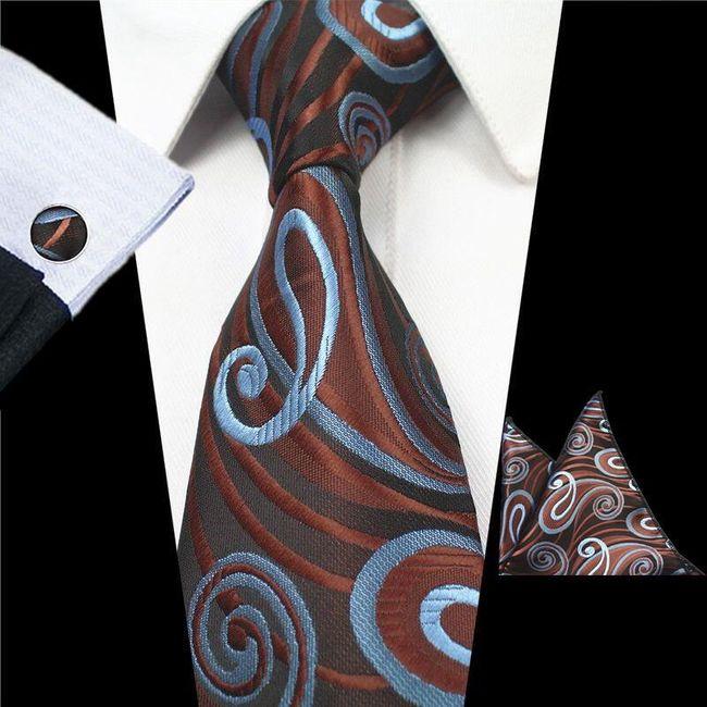 Nyakkendő  zsebkendő és mandzsettagombok - 19 változat