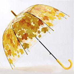 Зонт-трость с цветными листиками- 4 варианта