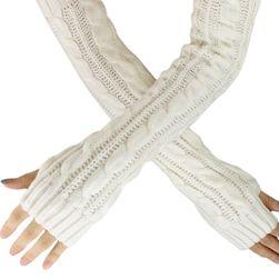Dlouhé pletené návleky na ruce