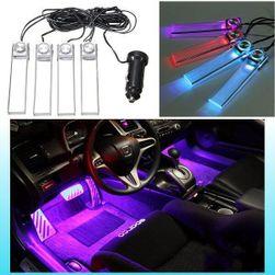 Światła LED na podłogę samochodu