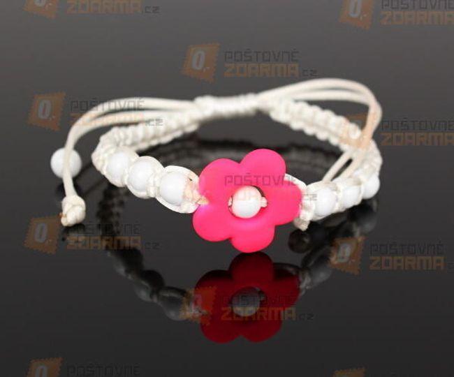 Gyermek Shamballa karkötő virággal 1